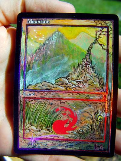 Mountain (157) card alter by seesic