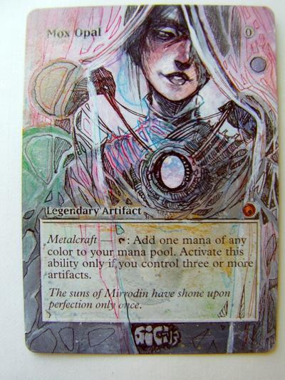 Mox Opal card alter by seesic