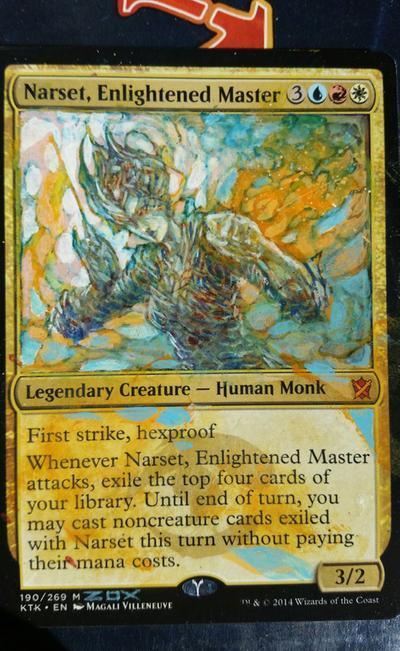 Narset, Enlightened Master card alter by seesic