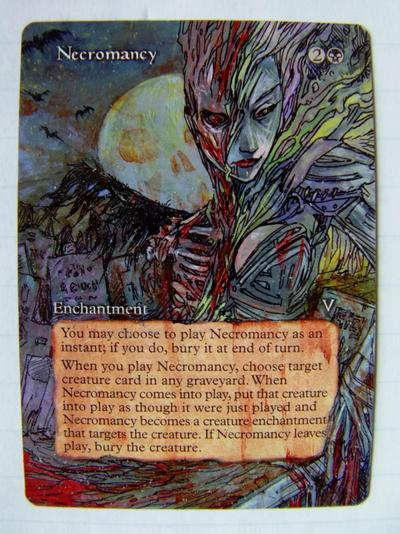 Necromancy card alter by seesic