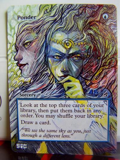 Ponder card alter by seesic