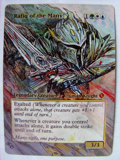 Rafiq of the Many card alter by seesic