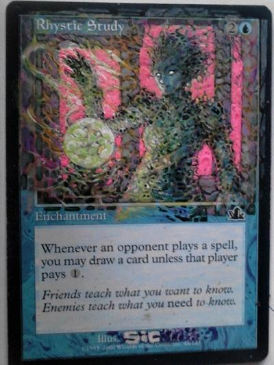 Rhystic Study card alter by seesic