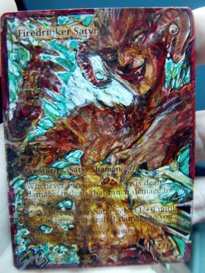 Firedrinker Satyr card alter by seesic