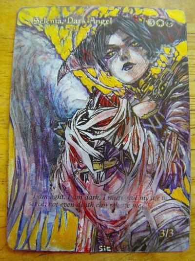 Selenia, Dark Angel card alter by seesic