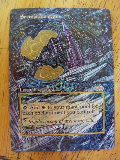 Serra's Sanctum card alter by seesic