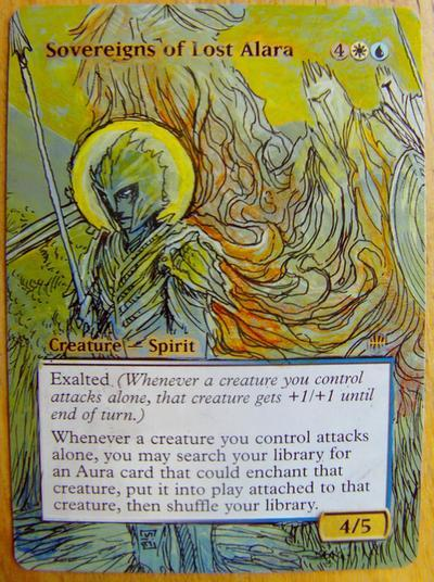 Sovereigns of Lost Alara card alter by seesic