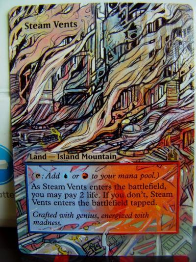 Steam Vents card alter by seesic