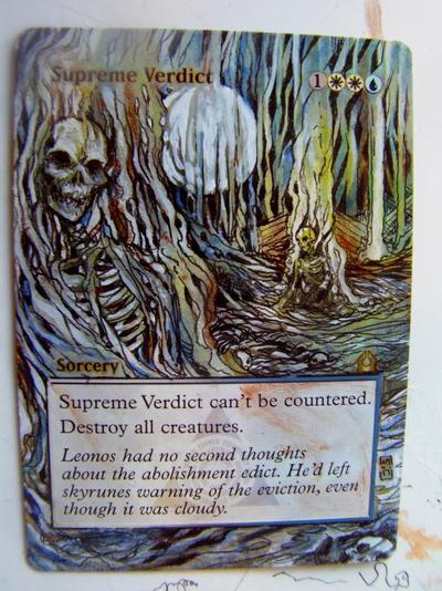 Supreme Verdict card alter by seesic