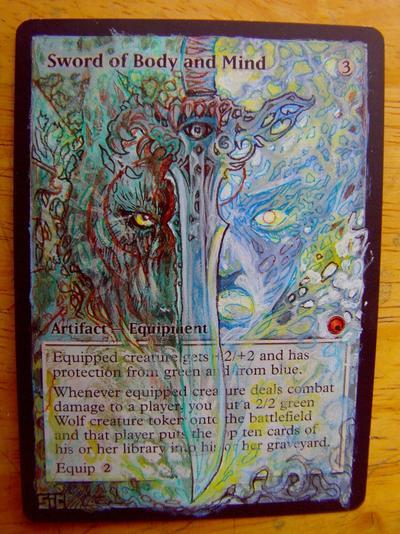 Sword of Body and Mind card alter by seesic