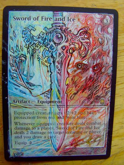 Sword of Fire and Ice card alter by seesic