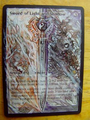 Sword of Light and Shadow alter #