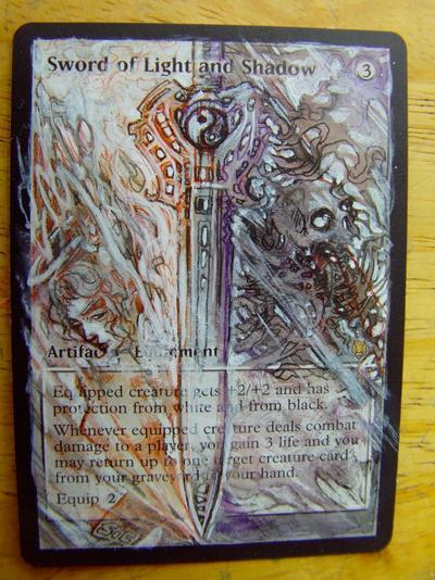 Sword of Light and Shadow card alter by seesic