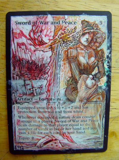 Sword of War and Peace card alter by seesic