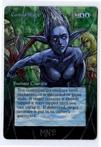 Control Magic card alter by seesic