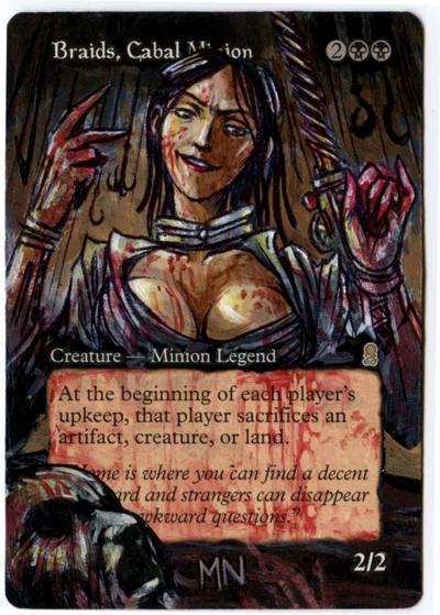 Braids, Cabal Minion card alter by seesic