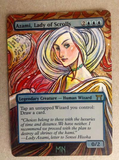 Azami, Lady of Scrolls card alter by seesic