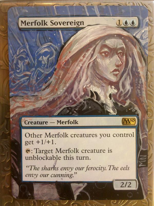 Merfolk Sovereign card alter by seesic