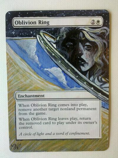 Oblivion Ring card alter by seesic