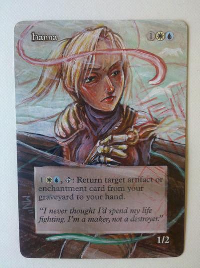 Hanna, Ship's Navigator card alter by seesic