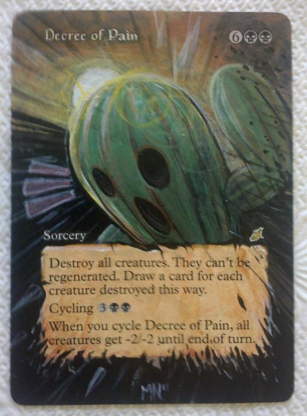 Decree of Pain card alter by seesic