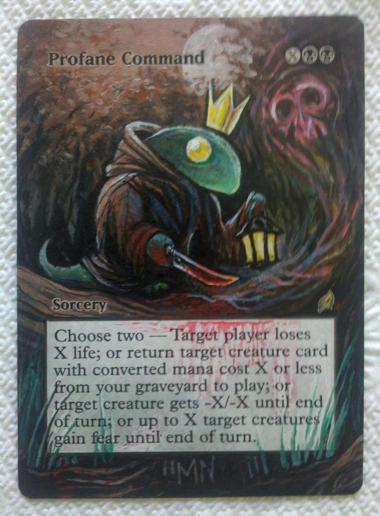 Profane Command card alter by seesic