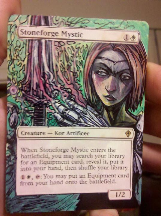 Stoneforge Mystic card alter by seesic