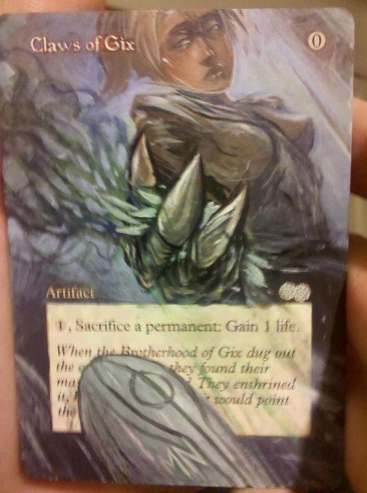 Claws of Gix card alter by seesic