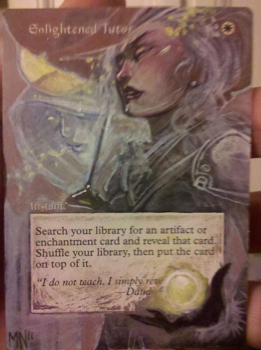 Enlightened Tutor card alter by seesic