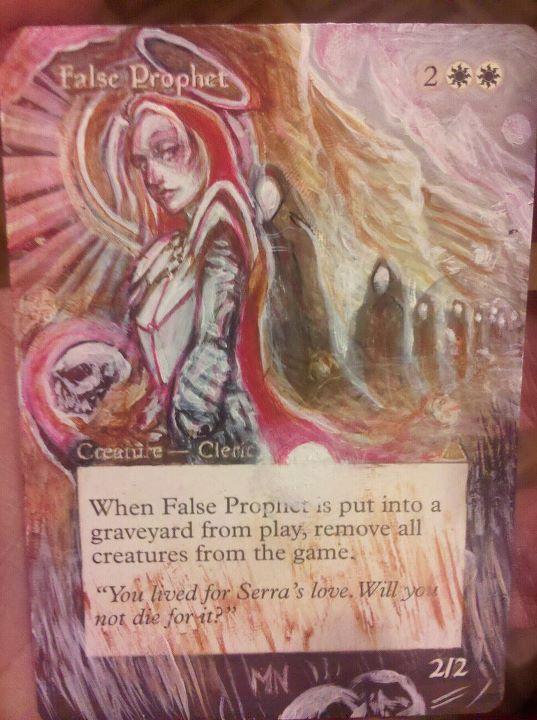 False Prophet card alter by seesic