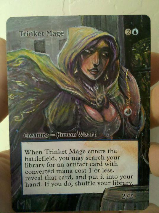 Trinket Mage card alter by seesic