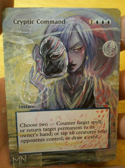 Cryptic Command card alter by seesic