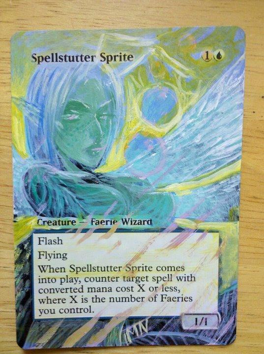 Spellstutter Sprite card alter by seesic
