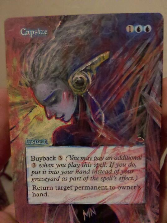 Capsize card alter by seesic