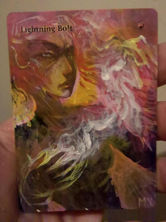 Lightning Bolt card alter by seesic