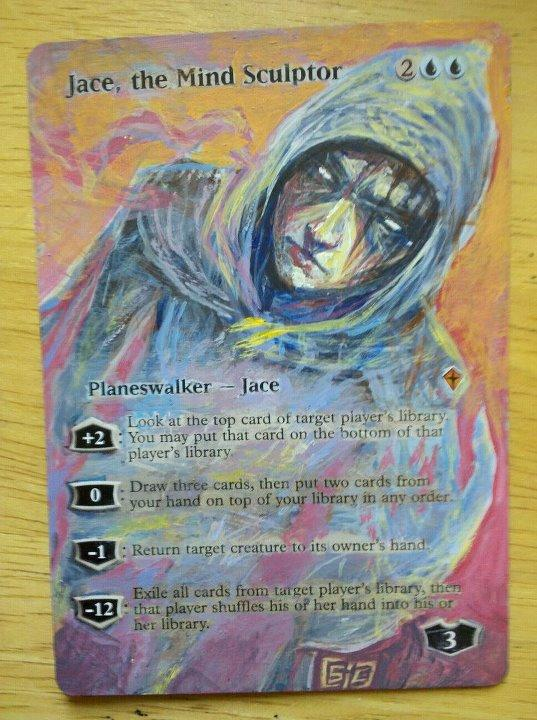 Jace, the Mind Sculptor card alter by seesic