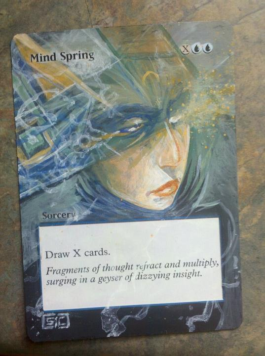 Mind Spring card alter by seesic