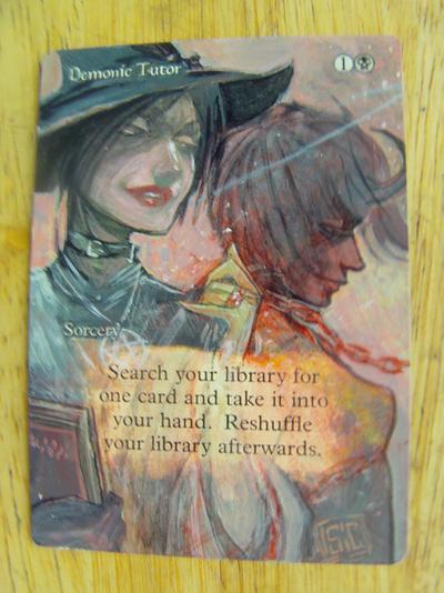 Demonic Tutor card alter by seesic
