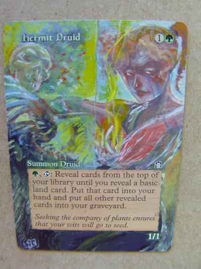 Hermit Druid card alter by seesic