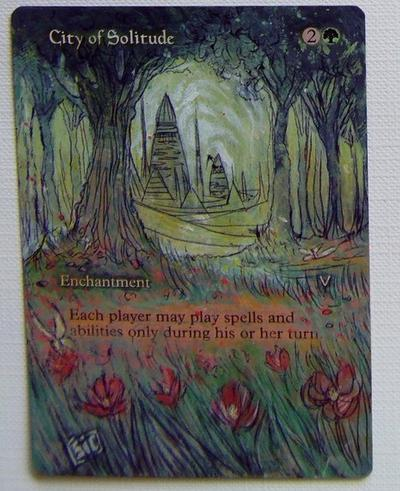 City of Solitude card alter by seesic