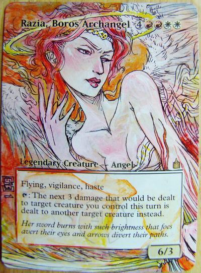 Razia, Boros Archangel card alter by seesic