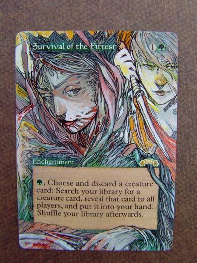 Survival of the Fittest card alter by seesic