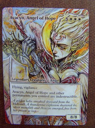 Avacyn, Angel of Hope card alter by seesic
