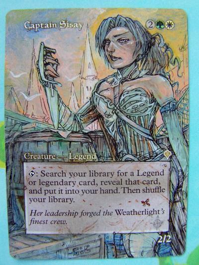 Captain Sisay card alter by seesic