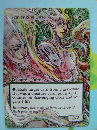 Scavenging Ooze card alter by seesic