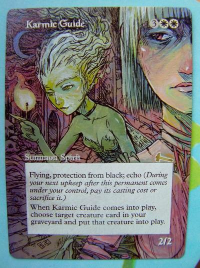 Karmic Guide card alter by seesic