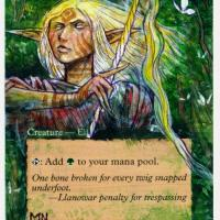 Llanowar Elves alter #