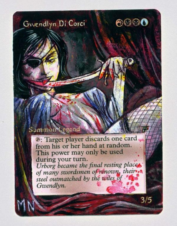 Gwendlyn Di Corci card alter by seesic