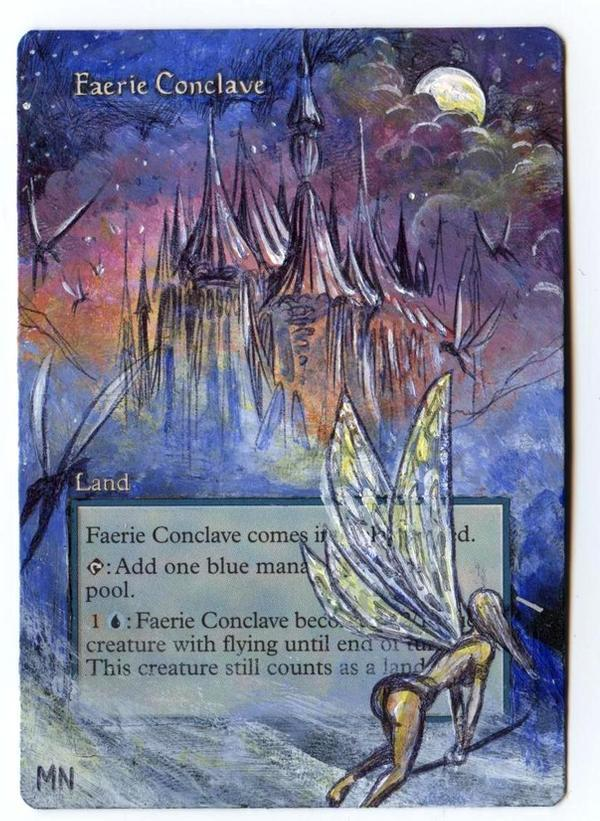 Faerie Conclave card alter by seesic