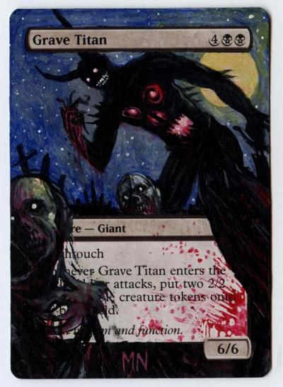 Grave Titan card alter by seesic